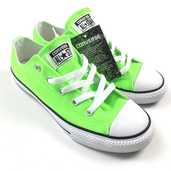 77a77188a1b Converse Chuck Taylor Ox Green Gecko Womens Neon 5